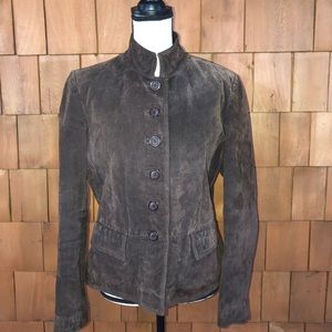 Chadwick's chocolate brown suede jacket